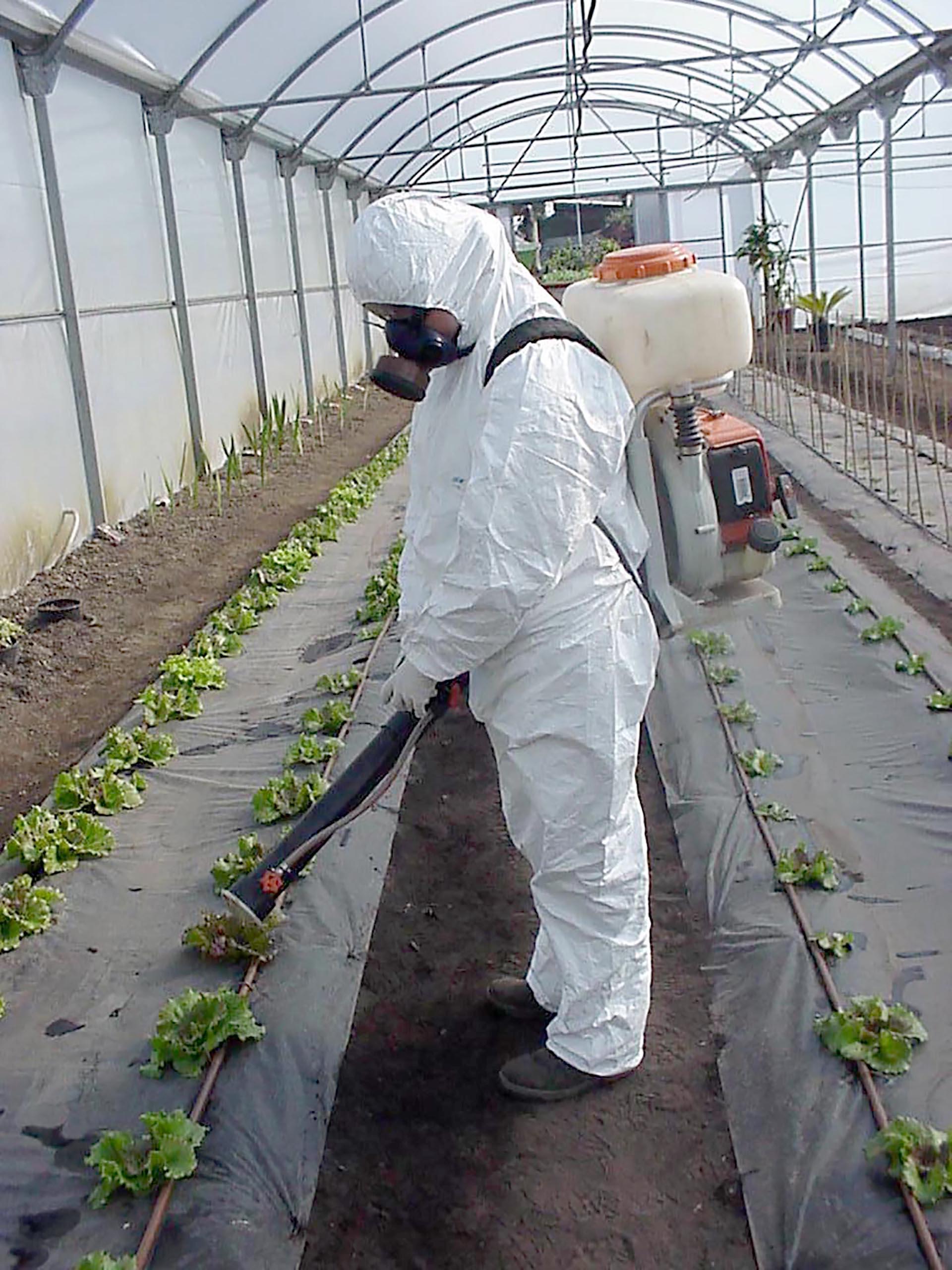 Manipulador de productos fitosanitarios