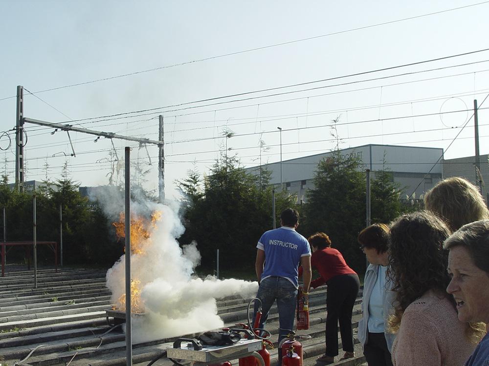 Control y extinción de incendios